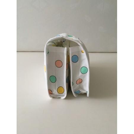 Badmat met handdoek handgeborduurd €24,95