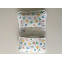 Badmat met handdoek in naturel en handgeborduurd €24,95