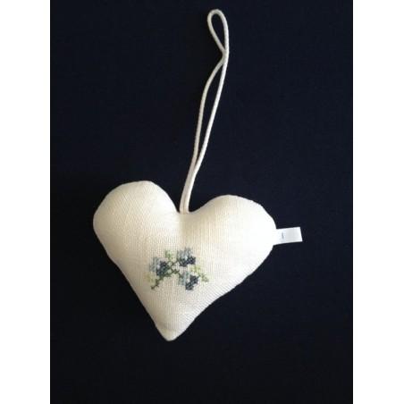 Kerstbal met ruitjes damast en kant Ø 10 cm €6,95
