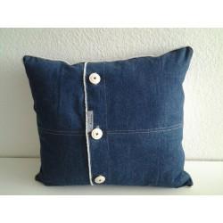 Kerstcadeauzak wit met rood-geruite stof en rendier €4,95