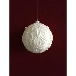Kerstbal met kant en pareltjes Ø 8 cm €5,95