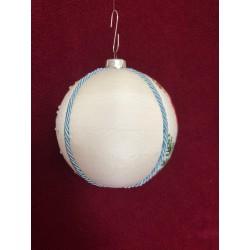Schortje van katoen met een Delftsblauw bloemmotief €15,95