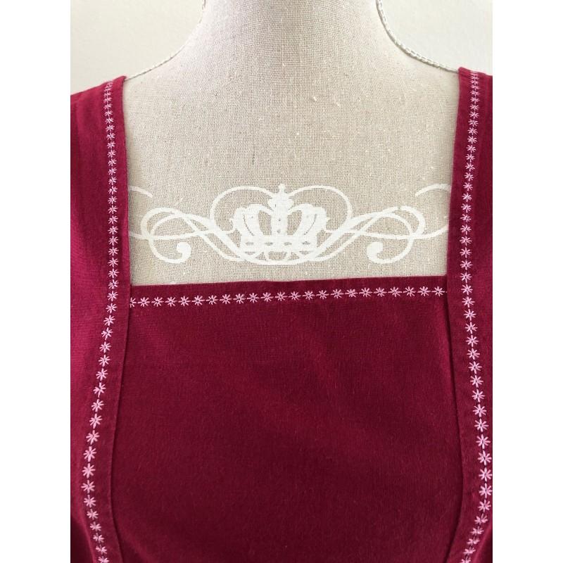 Kerst / menukaart met handgeborduurde kerst sneeuwpop €5,95