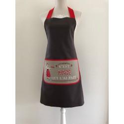 Kerst / menukaart met handgeborduurde hulsttak en cadeau €5,95