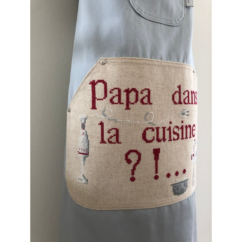 Kerst / menukaart met handgeborduurde maretak en strik €5,95