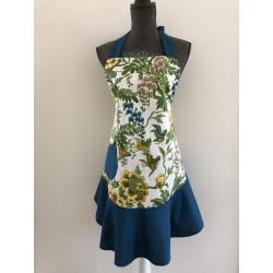 Kerst / menukaart met handgeborduurd huisje €5,95