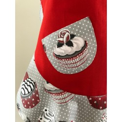 Kerst / menukaart met handgeborduurde zuurstok €5,95