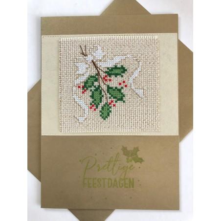 Kerstbal met handgeborduurd meisje en zuurstok Ø 10 cm €7,95