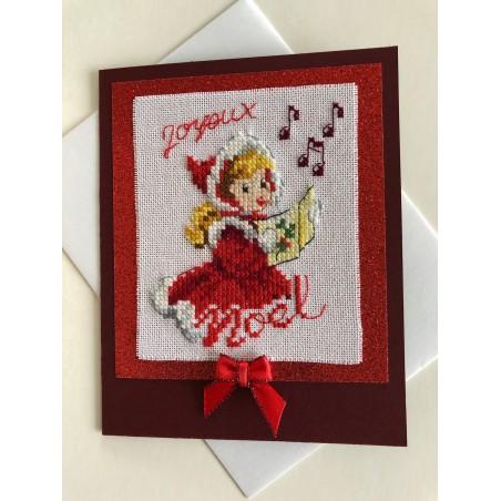 Kerstbal met handgeborduurde hulstblaadjes en strik Ø 8 cm €6,95
