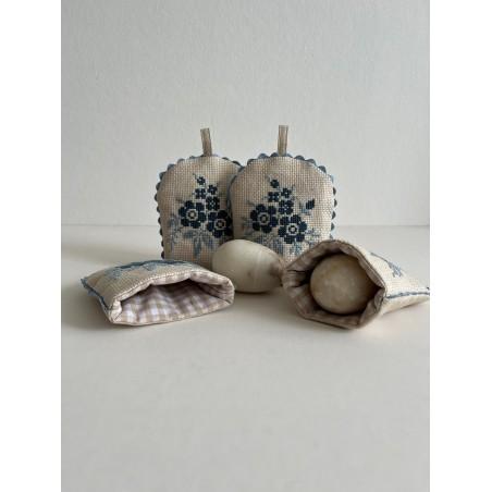 Vintage schort in de kleur bordeaux rood